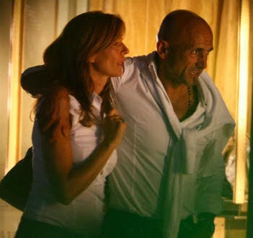 Luciano Spalletti con la moglie Tamara per il centro di Forte dei Marmi