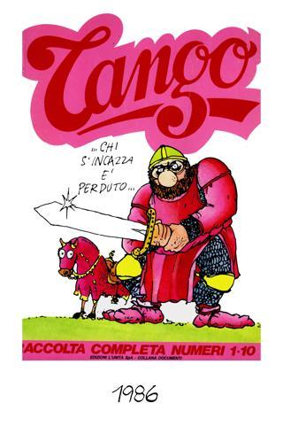 Locandina pubblicitaria dell'inserto satirico dell'Unità, Tango, 1986