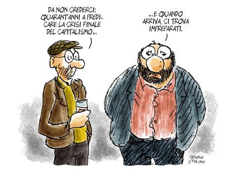 2009 Vignetta de «L'Unità»: la crisi del capitalismo
