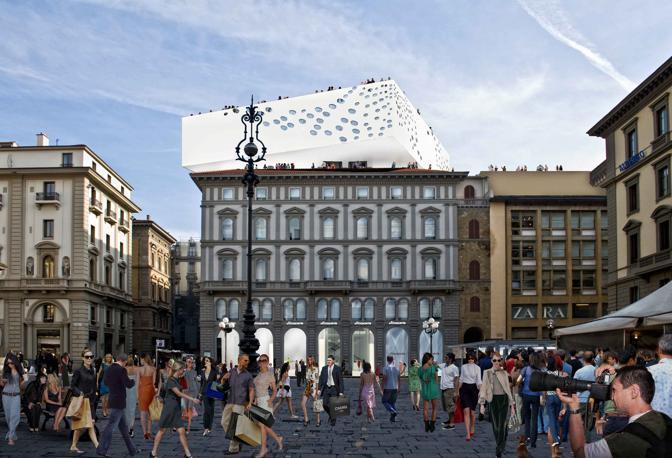 La terrazza sospesa della Rinascente - CorriereFiorentino