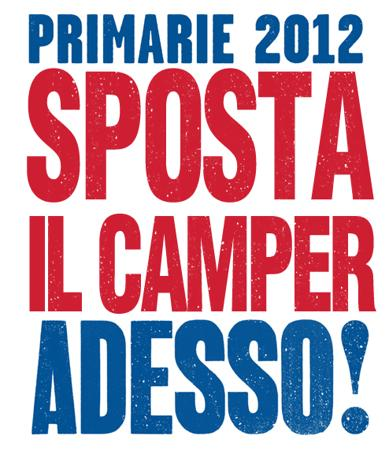 Mentre la foto del camper di Matteo Renzi in doppia fila fa il giro del web, partono le ironie. Così il logo e lo slogan: «Primarie 2012 Matteo Renzi Adesso!» è stato rivisitato come: «Primari 2012 Sposta il camper Adesso!»
