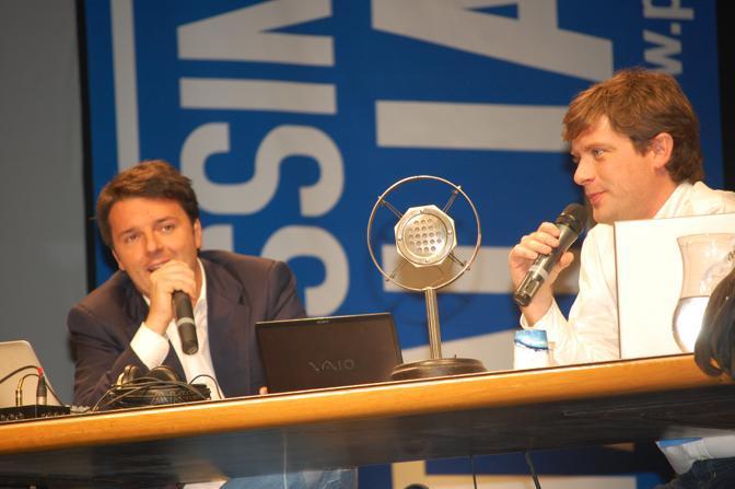 Con l'amico-nemico Pippo Civati (Foto Gianluca Giannini)