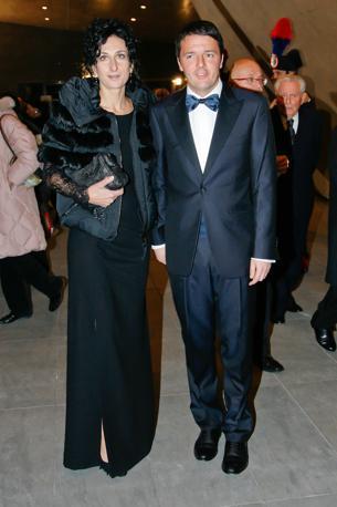 Con la moglie Agnese