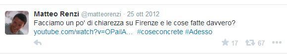 Questo hashtag verrà utilizzato da Renzi sia a livello nazionale che locale