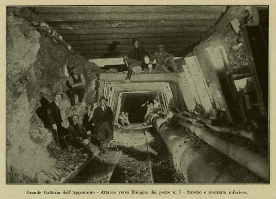 La costruzione del tunnel, la grande Galleria dell'Appennino