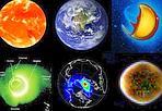 La Terra ha sei facce - Ogni oggetto celeste emette radiazione in un ampio intervallo dello spettro elettromagnetico. La Terra non fa eccezione. Questa serie di foto mostra come appare il nostro pianeta ripreso da satelliti nell'infrarosso (in alto a sinistra), visibile, ultravioletto, estremo UV, raggi X e raggi gamma (in basso a destra). L'emissione infrarossa è causata dal vapor d'acqua sospeso nell'atmosfera, quella UV dalla parte della Terra illuminata dal sole. L'emissione nei raggi X è dovuta all'interazione di particelle interplanetarie con gli strati esterni dell'atmosfera. (Francesco Palla  Credito: NASA-ESA ) GUARDA LE IMMAGINI SUL SITO DELL'OSSERVATORIO DI ARCETRI