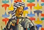 Drappellone alla «libanese» - È un accumulo di simboli che chiedono una lettura meticolosa il drappellone che il libano- senese Ali Hassoun ha confezionato per il Palio del prossimo due luglio. Voleva far bella figura e comporre in armonica sintesi elementi di culture diverse, accomunate dalla condivisione di un Mediterraneo che una volta univa opposte sponde e favoriva reciproci scambi. Sapeva che lo attendevano al varco: lui musulmano affascinato dal sufismo alle prese con un'opera dove è obbligatoria l'iscrizione dell'icona della Madonna di Provenzano. Anche per illustrare le fasi di un lavoro in progress non privo di sorprese e colpi di scena si è aperta al Santa Maria della Scala una piccola mostra, che aduna sette bozzetti preparatori. Ed è come sorprendere Ali affaccendato nel suo laboratorio.