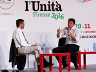 Renzi alla festa dell'Unità per il «Sì» al referendum