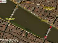 Firenze, Ponte Santa Trinita off limits per una settimana. Traffico a rischio