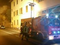 Firenze, fiamme in via Campo d'Arrigo