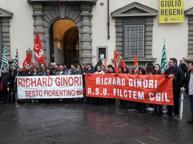 Firenze, il presidio dei lavoratori della Richard Ginori