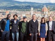 Inferno, il cast al Forte Belvedere Sullo sfondo la Cupola del Brunelleschi