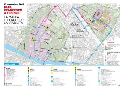 Cartina Firenze Santa Maria Novella.Papa A Firenze La Mappa Dei Divieti Corrierefiorentino It